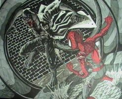 Spidey vs. Lizard by Virus-91