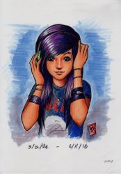 Christina Grimmie (Copic Markers) by Joshua-Mozes
