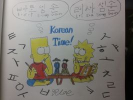 The simpson:Bart and Lisa Korean Time! by komi114