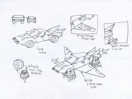 Flying Car Reference by LunaSurge