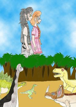 Sue and Hugo and dinosaurs by Animedalek1