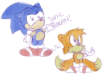 Sonic and Tails SatAM by Purp1eDragon