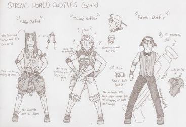 Strong World Outfits by MonkeyDSophie