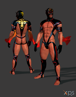 Virtua Fighter - El Blaze Fan Made Outfit W.I.P by DaemonCollection