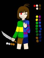 Ref Sheet: Chara and Frisk - anime version by academian