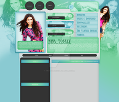 Nina Dobrev layout 5 by VelvetHorse
