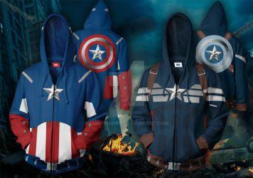 Captain America Hoodies by lumpyhippo
