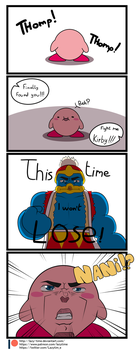 Kirby vs new King Dedede by lazy-Time