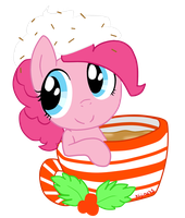 How do you fit in that cup Pinkie by Niji-Cookies