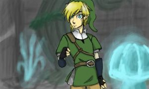 Link in the Skyview temple by Jizeru1