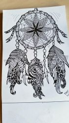 zendoodle dreamcatcher by Miss-Chili