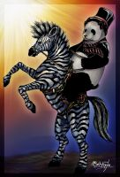 Zebra and Panda. (Color) by 0Galath0