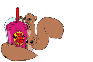 Slushie Squirrels by fennecthefox15