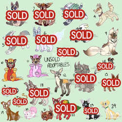 UNSOLD ADOPTS 50 POINTS OR LESS! [8/24 OPEN] by CartoonyCanine