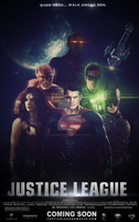 Justice League (Fan-Made) Movie Poster v2 by DiamondDesignHD
