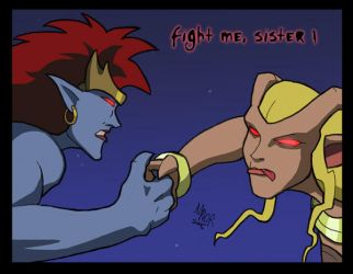 Fight me sister by avator