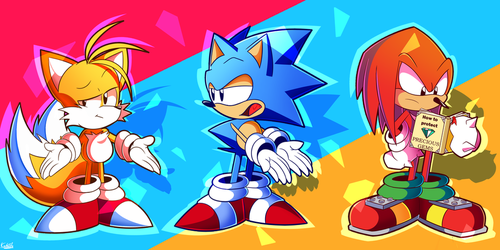 Blue, Red and Yellow by Kaleido-Art