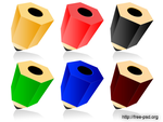 3d color pencil icons by ivprogrammer