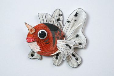 Pokemon Paper Quilling Art 119 Seaking by wholedwarf