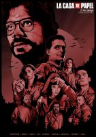 La Casa de Papel artwork wallpaper by compeng