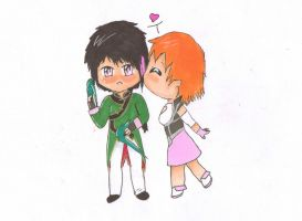 Ren and Nora by Crazy-Chibi-J
