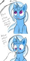 Trixie petting by Chapaevv