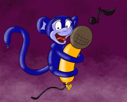 Singing Balloon Monkey by SierraRomeo
