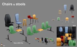 Low poly seats by Imogia