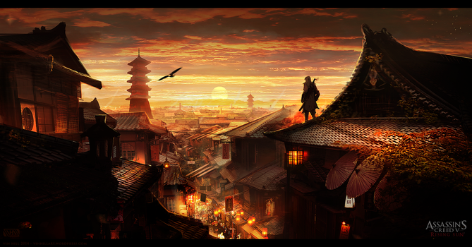Assassin's Creed 5: Rising Sun Kyoto Environment by TheEnderling