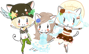 Chibi Group by dreaminglilly