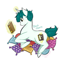MLP OC ~ Book Charm (Art Trade) by nychnymph