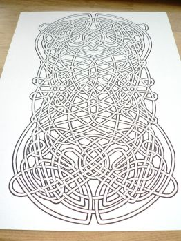 Celtic knot at an angle by MozDynamite