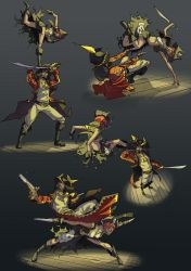 Fight of the captains by Drunken-Novice