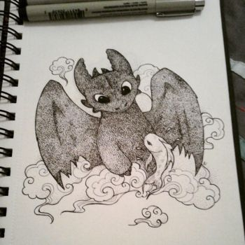 Krokmou - Toothless by MrsPopsicle
