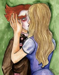 Alice kissing the hatter by Lithiumcarbonat