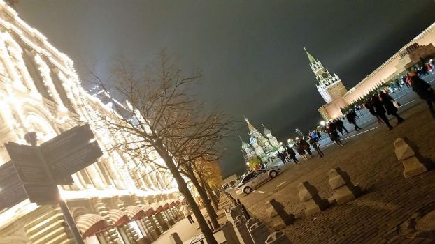 Red square in the night by TanyaLis