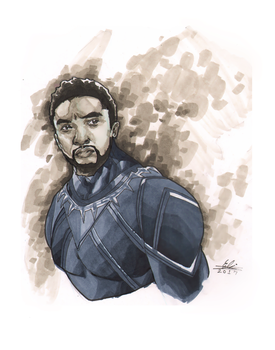 Copic Black Panther by Atlas0