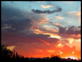 Another Glowing Monsoon Sunset by RooCat