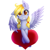 Derpy with heart by 0okami-0ni