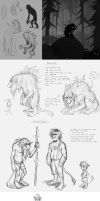 peter pan concept sketches 4: TROLLS etch by Detkef