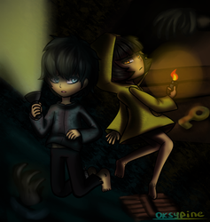 Six and Runaway boy (Little Nightmares fanart) by OksyPine