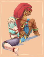 Urbosa and Link CiD by lostonezero
