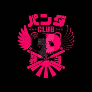 Panda Club Logo Design (Pink) by PandaPawPaw