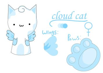 Cloud Cat refrence sheet by pink-llamacornz