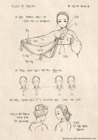 HOW TO DRAW  HANBOK - 1 by theobsidian