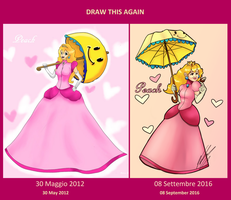 Draw Princess Peach Again by ValeriaDiStefano