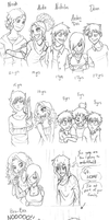 Snicky Sketchdump 02: Sibling edition by AbnormallyNice