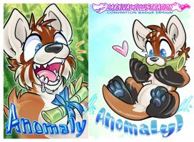 COM: Anomaly mini Badge-Pair! by carnival