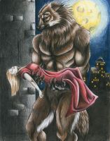 The lonely wolf by punxnotdead309