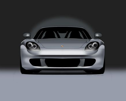 Porsche Carrera GT Drawing by Flame-X